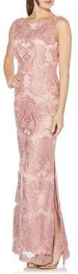 Laundry by Shelli Segal Sequin Mesh Column Gown