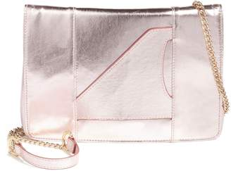 Leith Metallic Faux Leather Clutch