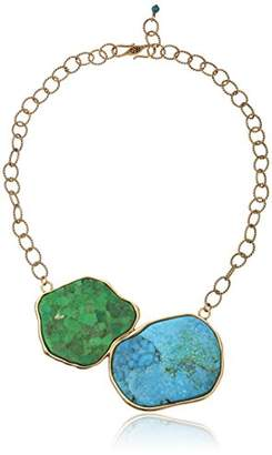 Barse and Lime Statement Necklace