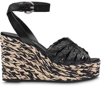 Prada braided wedge sandals