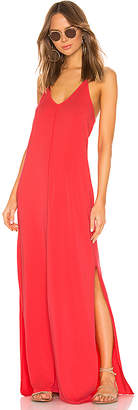 Bobi Draped Jersey Maxi Dress