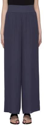 Theory Wide leg crepe silk pants