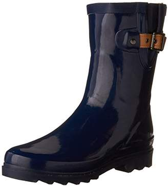 Chooka Womens' Waterproof Top Solid Mid Rain Boot