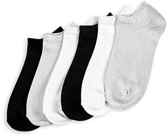 Hue Pack of Six Super Soft Liner Socks