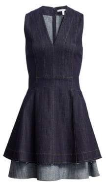 Derek Lam 10 Crosby Fit-&-Flare Denim Dress