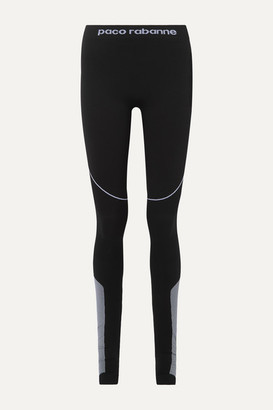 Paco Rabanne Paneled Stretch-jersey Stirrup Leggings - Black