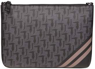Trussardi Vaniglia Saffiano Faux Leather Shoulder Bag