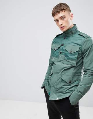 Pretty Green M65 Field Jacket In Green