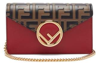 Fendi Ff Logo Leather Belt Bag - Womens - Red Multi