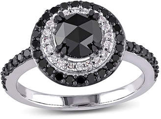 Black Diamond MODERN BRIDE Midnight 1 1/2 CT. T.W. White and Color-Enhanced 10K White Gold Engagement Ring