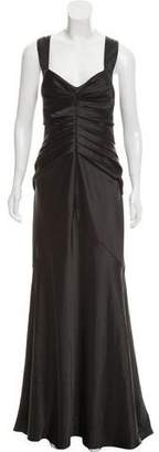 Calvin Klein Collection Pleated Sleeveless Gown