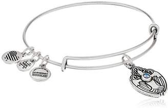 Alex and Ani Crystal Dove Expandable Charm Bracelet, Rafaelian Silver-Tone