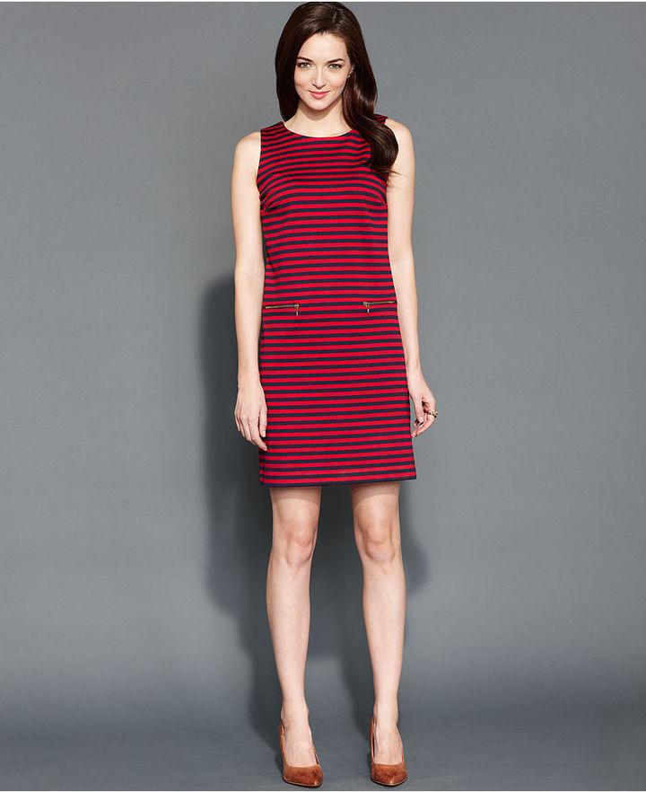 Tommy Hilfiger Dress, Sleeveless Striped Knit Sheath