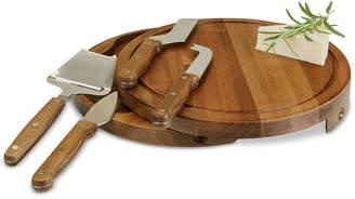 Picnic Time Acacia Circo Wood Cheese Board & Tools Set