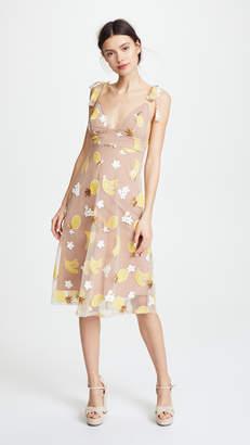 For Love & Lemons Fruitpunch Sequin Midi Dress