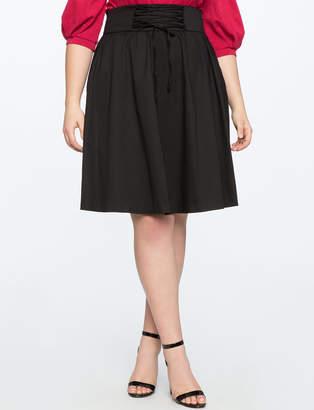 Corset Waist Midi Skirt