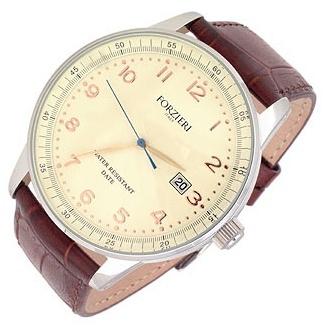 Forzieri Montecristo Brown Leather Date Watch