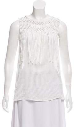Ramy Brook Fringe Trim Sleeveless Top
