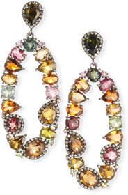 Siena Lasker Tourmaline & Diamond Oval Earrings