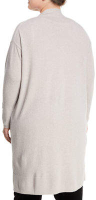Lafayette 148 New York Long Button-Front Merino/Cashmere Cardigan, Plus Size