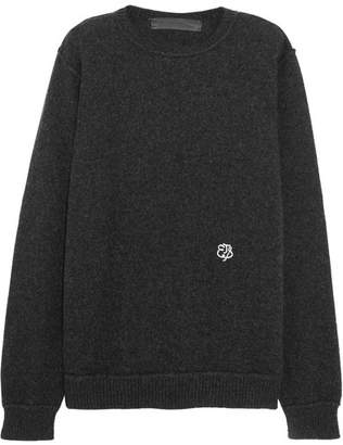 The Elder Statesman Embroidered Cashmere Sweater - Charcoal