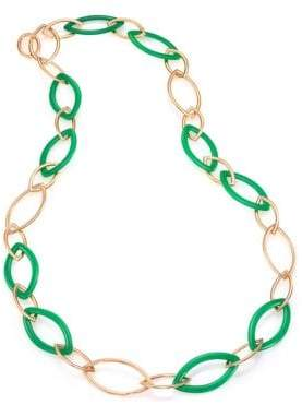 Marquis Pop Chrysoprase & 18K Rose Gold Chain Necklace