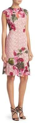 Monique Lhuillier Floral Print Dress