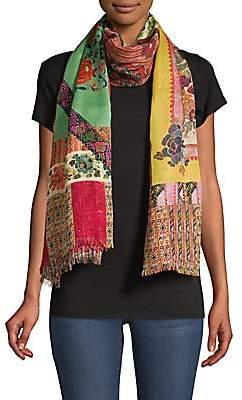 Etro Women's Floral Mosaic Cashmere & Silk Raji Scarf