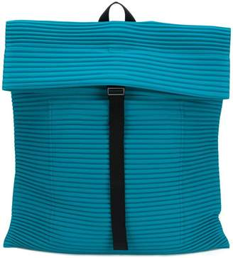 Issey Miyake Homme Plissé ribbed detail backpack