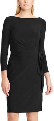 Chaps Women's Gathered Side-Tie Sheath Dress