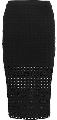 Alexander Wang Perforated Stretch-Jersey Skirt