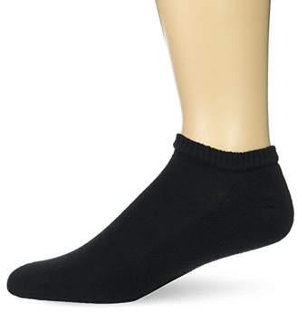 Gildan Men's Stretch Cotton Half Cushion No Show Socks