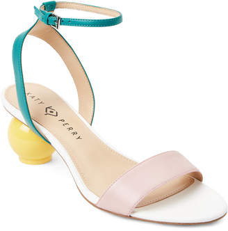 Katy Perry Rose & Green Adventure Color Block Sandals
