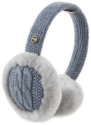 UGG Wired Cable-Knit Crochet Earmuffs, Steel $75 thestylecure.com