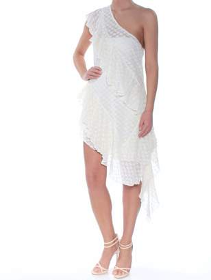 Free People Womens Eyelet Sleeveless Asymetrical Neckline Below The Knee Evening Dress US Size: XS