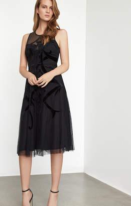 BCBGMAXAZRIA Velvet Applique Dress
