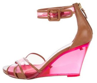 Via Spiga Lucite Crossover Wedges $70 thestylecure.com