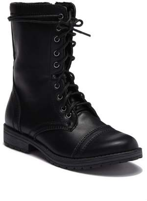 Madden-Girl Maddiie Faux Leather Combat Boot