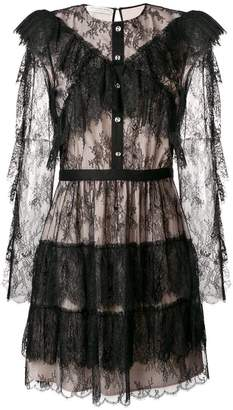 Philosophy di Lorenzo Serafini lace embroidered tiered dress