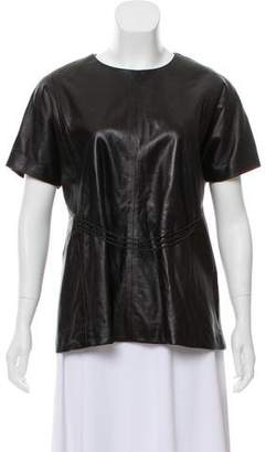 Tanya Taylor Leather Frank Top