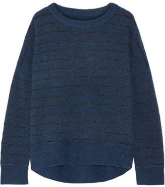 By Malene Birger Andoles Metallic Striped Knitted Sweater - Petrol
