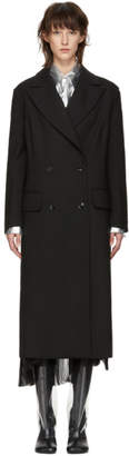MM6 MAISON MARGIELA Black Wool Decortique Coat