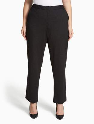 Calvin Klein plus size heathered ponte knit pants