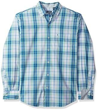 Izod Men's Essential Check Long Sleeve Shirt (Regular & Slim Fit)