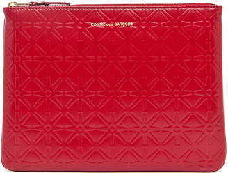 Comme des Garcons Star Embossed Pouch in Red | FWRD