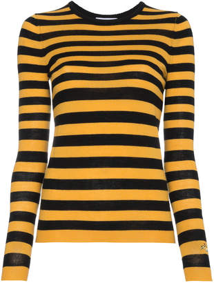 Bella Freud striped wool cashmere-blend sweater