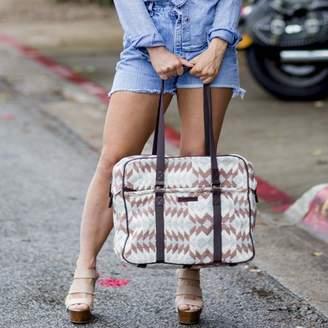 Wanderlust Ashton & Willow Creme White Southwestern Handbags Romy Tote Cotton Pewter Hardware Textured Geometric Tote