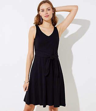 LOFT Tie Waist Pocket Dress