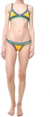 Kiini Ro Crochet-trimmed Bikini Brief