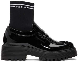 Miu Miu Black Sock Loafers